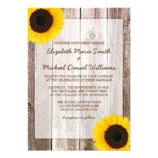 Invitations en bois de mariage de grange rustique