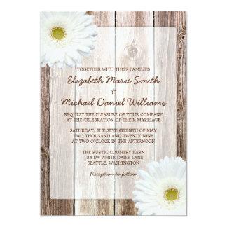 Invitations en bois de mariage de grange rustique carton d'invitation  12,7 cm x 17,78 cm
