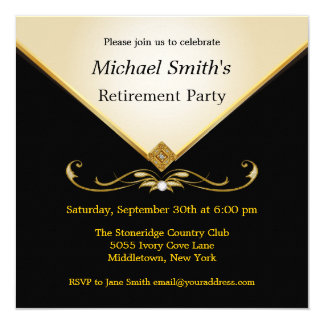 Invitations enes ivoire élégantes d'événement carton d'invitation  13,33 cm