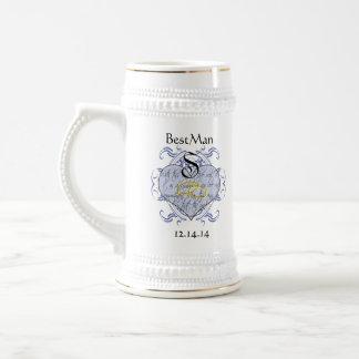 Invitations et cadeaux de mariage de monogramme mug à café