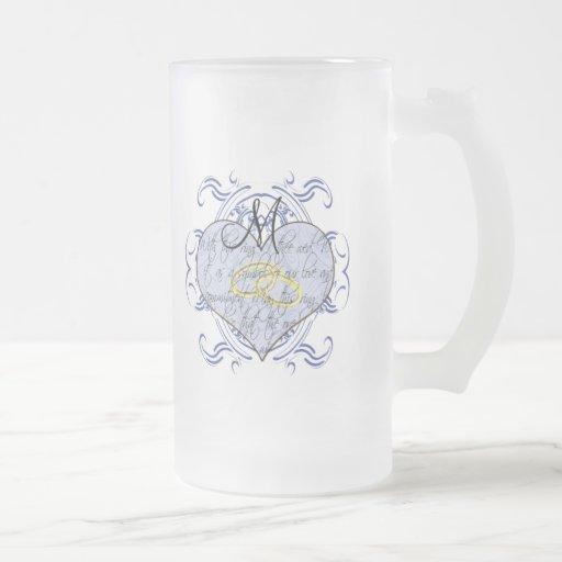 Invitations et cadeaux de mariage de monogramme tasse