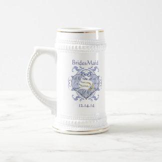 Invitations et cadeaux de mariage de monogramme chope à bière