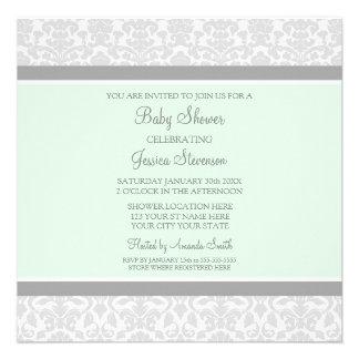 Invitations faites sur commande de baby shower de