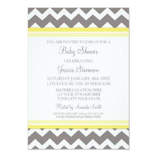 Invitations faites sur commande grises jaunes de carton d'invitation  12,7 cm x 17,78 cm