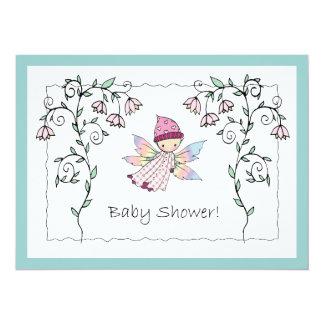 Invitations féeriques de baby shower de bébé doux