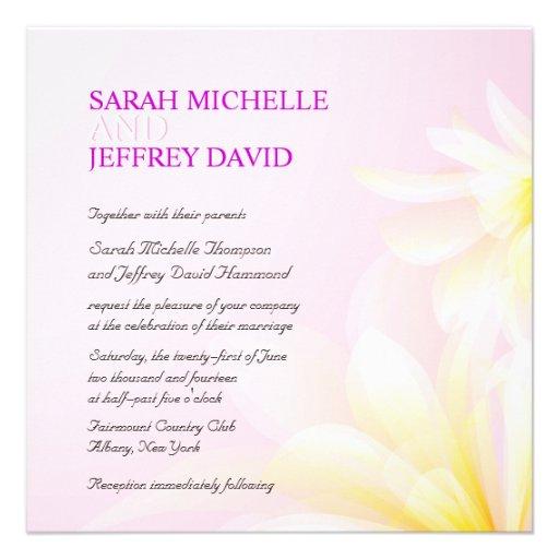 Invitations florales de mariage d'aquarelle jaune