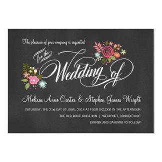 Invitations florales rustiques de mariage de