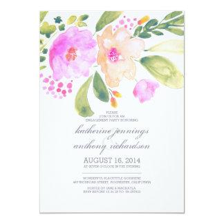 invitations floraux de partie de fiançailles