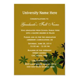 Invitations for graduation ceremony (convocation) custom invitation