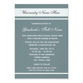 Invitations for graduation ceremony (convocation)