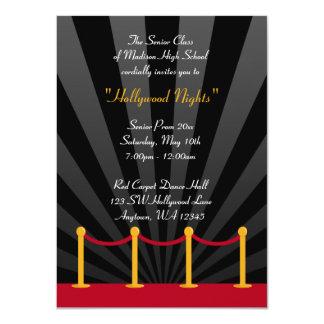 Invitations formelles de bal d'étudiants de tapis