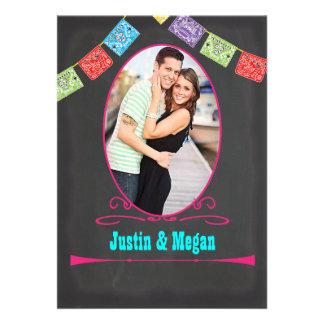 Invitations mexicains de mariage de courrier de fi