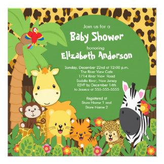 Invitations mignonnes de baby shower d animaux de