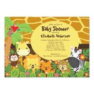 Invitations mignonnes de baby shower d'animaux de carton d'invitation  12,7 cm x 17,78 cm