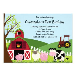Invitations mignonnes de fête d anniversaire d ani