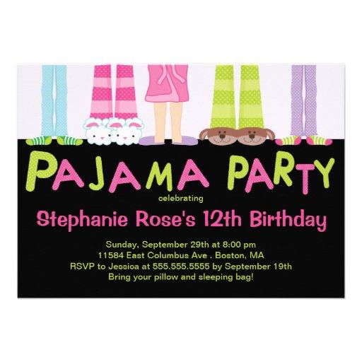 Invitations mignonnes de fête d'anniversaire de pa