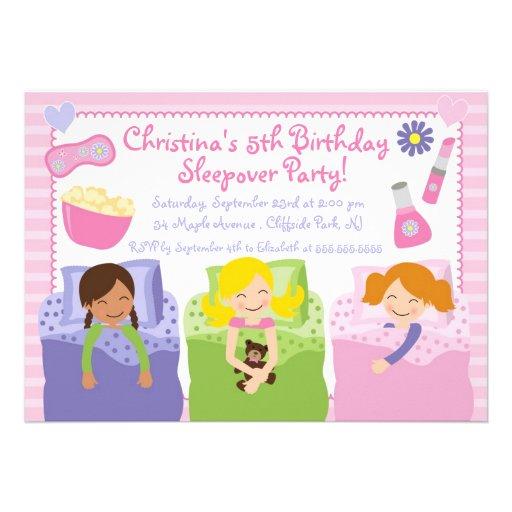 Invitations mignonnes de fête d'anniversaire de Sl