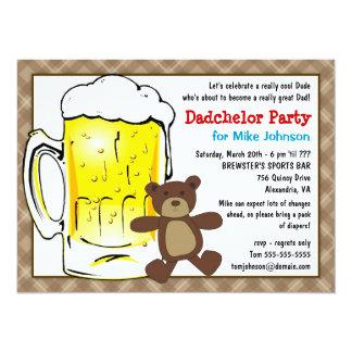 Invitations mignonnes de partie de Dadchelor -
