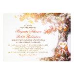 invitations modernes colorées de mariage de chêne