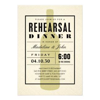 Invitations modernes de dîner de répétition de mar