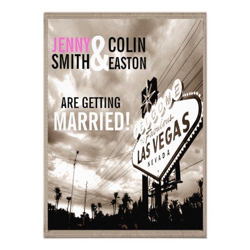 Invitations modernes de mariage de Las Vegas de