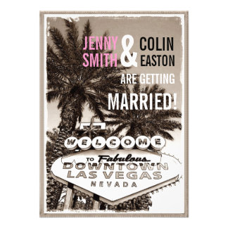 Invitations modernes de mariage de Las Vegas de sé