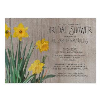 Invitations nuptiales de douche de jonquille carton d'invitation  12,7 cm x 17,78 cm