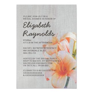 Invitations nuptiales de douche de lis tigrés carton d'invitation  12,7 cm x 17,78 cm