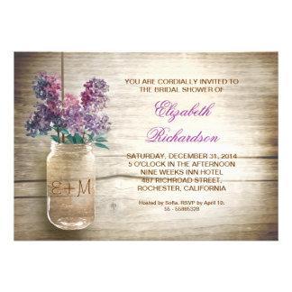 invitations nuptiales rustiques de douche de pot d