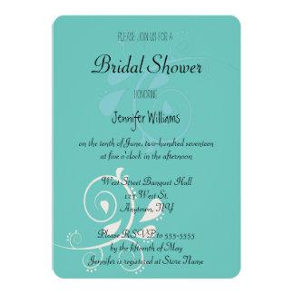 Invitations nuptiales vertes de douche de Paisley