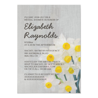 Invitations nuptiales vintages de douche de carton d'invitation  12,7 cm x 17,78 cm