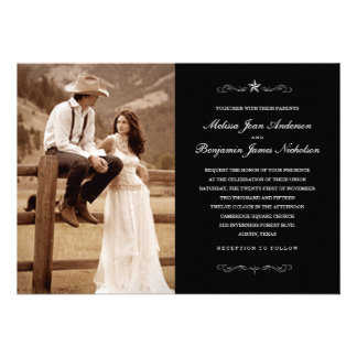 Invitations occidentales de photo de mariage