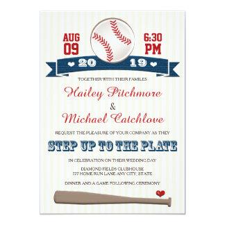 Invitations orientées de mariage de base-ball du