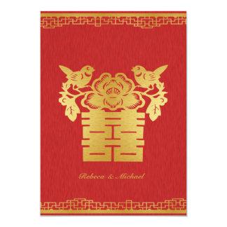 Invitations orientés chinois de mariage de double
