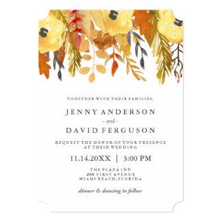 Invitations pour aquarelle de mariage d'automne