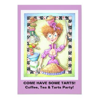 "INVITATIONS - QUEEN OF TARTS 5"" X 7"" INVITATION CARD"