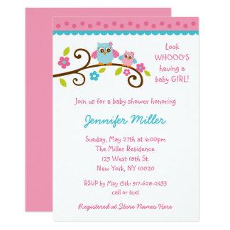 Invitations roses mignonnes de baby shower de
