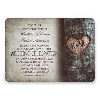 Invitations rustiques de mariage d arbre