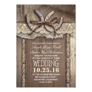 invitations vintages de mariage campagnard