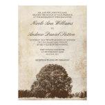 Invitations vintages de mariage de chêne de Brown
