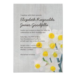 Invitations vintages de mariage de Jonquil