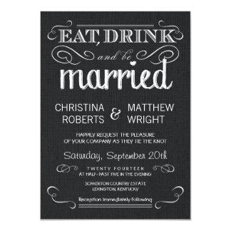 Invitations vintages de mariage de toile de jute carton d'invitation  11,43 cm x 15,87 cm