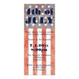 Invitations vintages de partie de drapeau 4