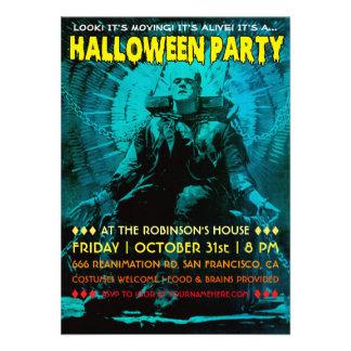 Invitations vintages de partie de Frankenstein