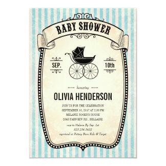 Invitations vintages victoriennes de baby shower carton d'invitation  12,7 cm x 17,78 cm