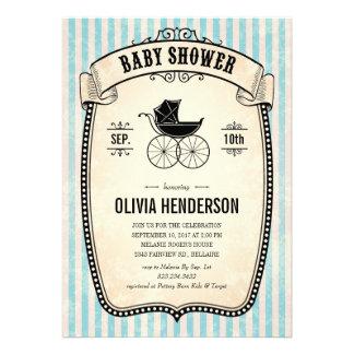 Invitations vintages victoriennes de baby shower d