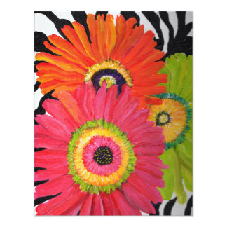 Invitations with Bright & Colorful Gerbera Daisies