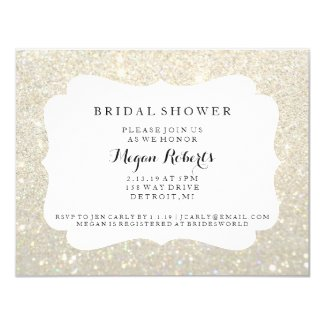 Invite - Bridal Shower Day Fab - White Gold