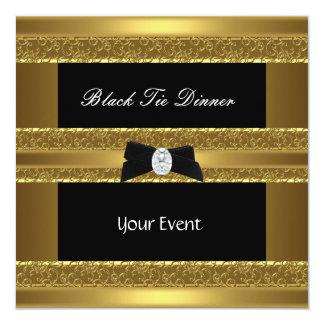 Invite Elegant Formal Black Tie Gold Black 2