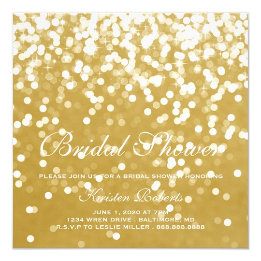 Invite - Sparkling Bridal Shower Gold